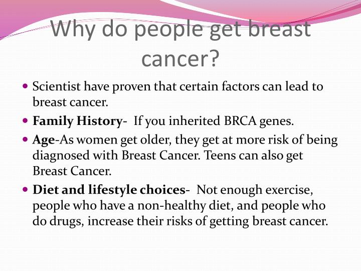 Scientist have proven that certain factors can lead to breast cancer.