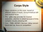 corps style