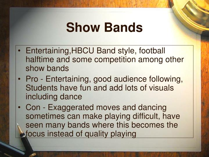 Show Bands