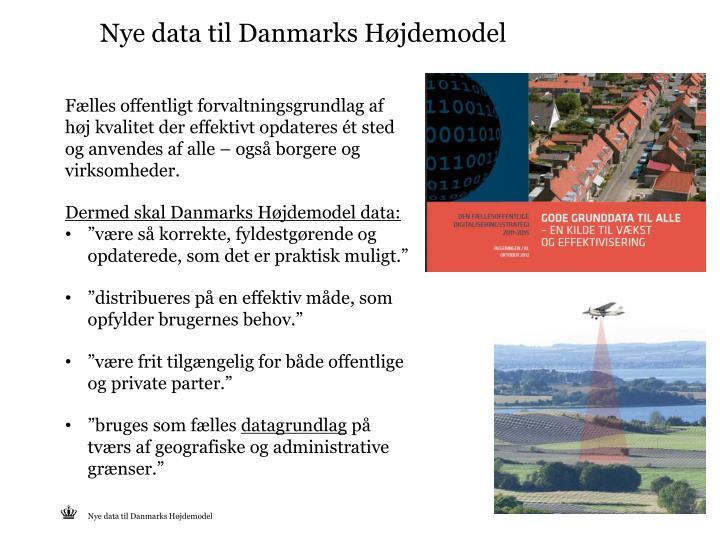 Nye data til Danmarks Højdemodel