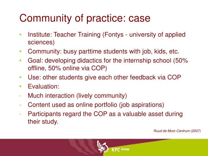 Community of practice: case
