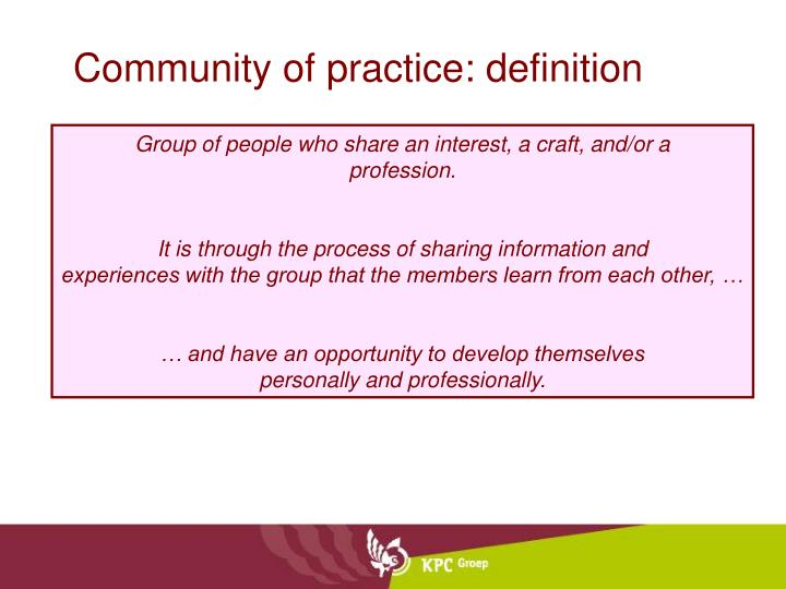 Community of practice: definition