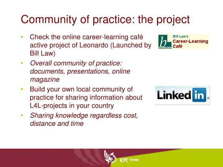 Community of practice: the project