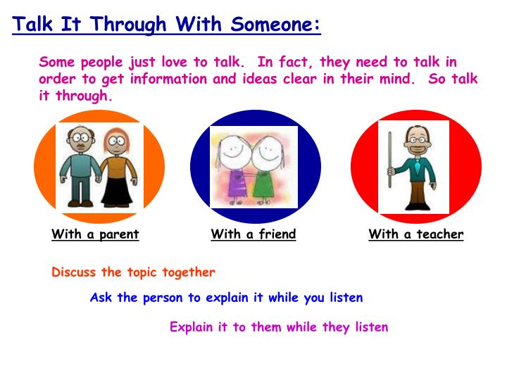 Talk It Through With Someone: