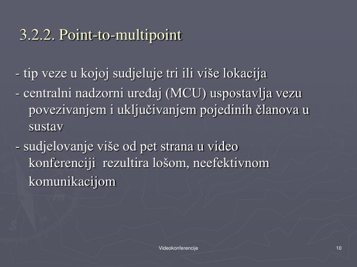 3.2.2. Point-to-multipoint