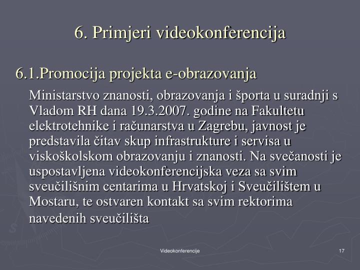 6. Primjeri videokonferencija