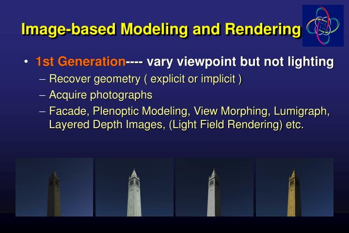 Image-based Modeling and Rendering
