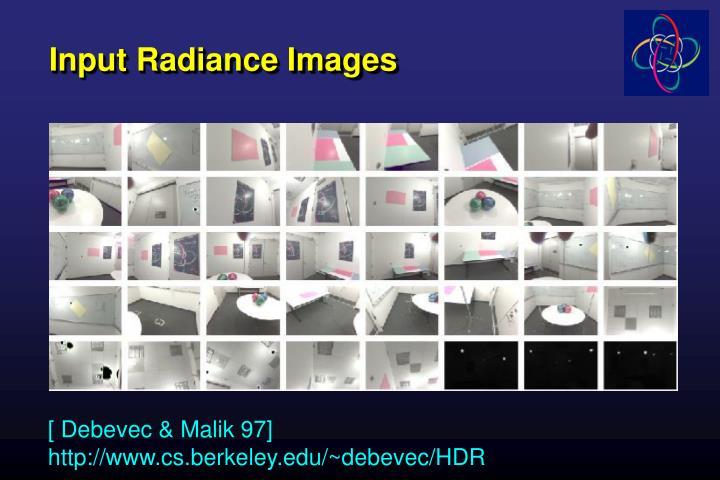 Input Radiance Images