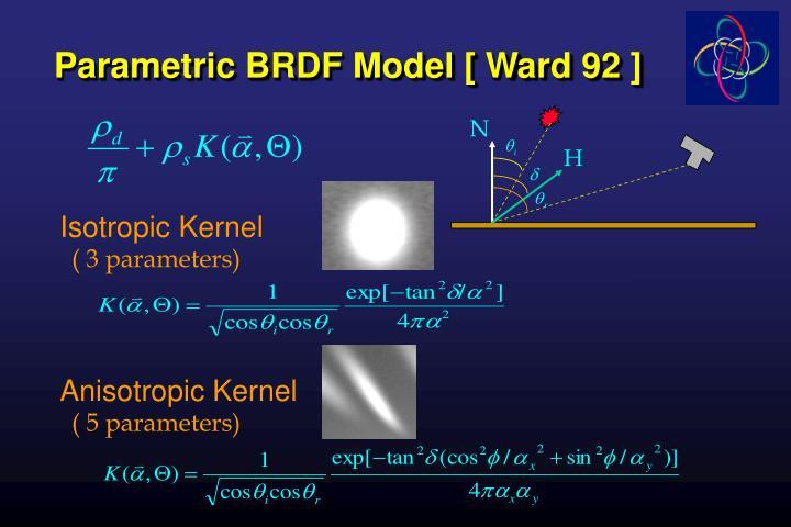 Parametric BRDF Model [ Ward 92 ]