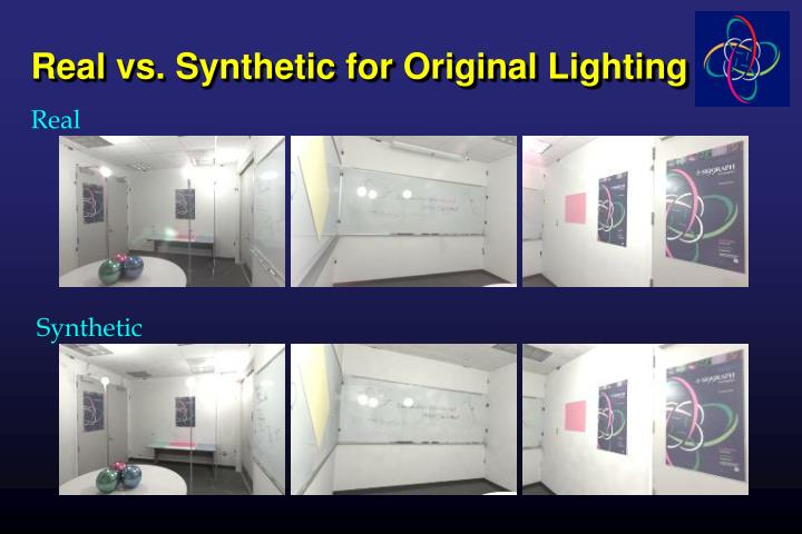 Real vs. Synthetic for Original Lighting