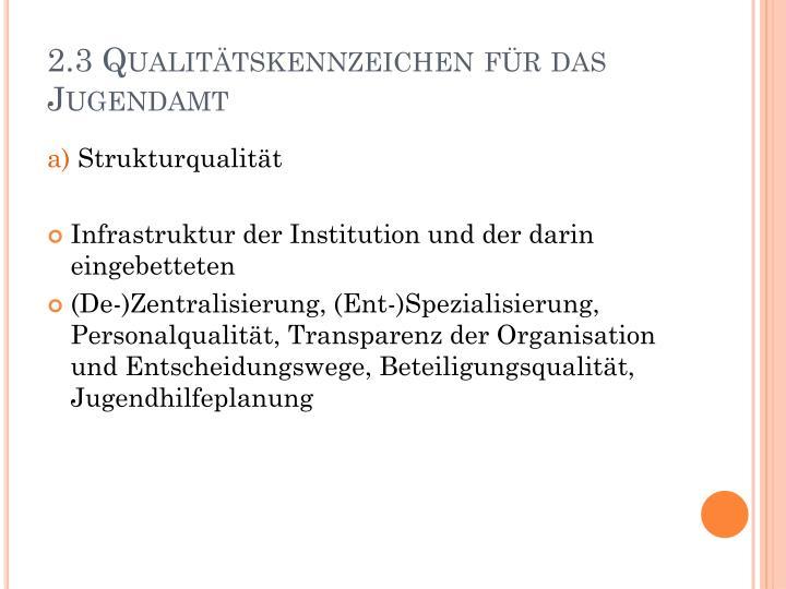 2.3 Qualitätskennzeichen für das Jugendamt