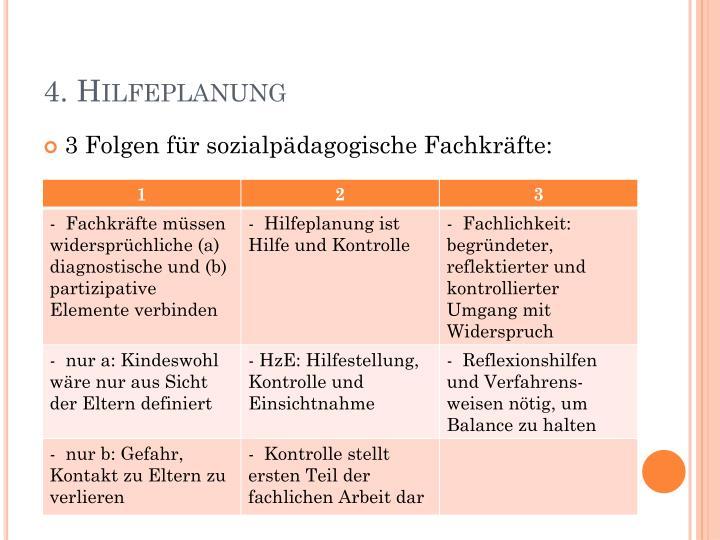 4. Hilfeplanung