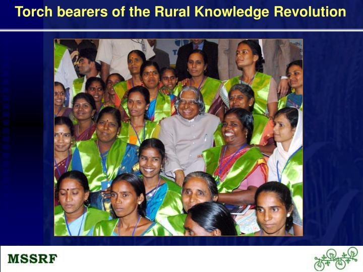 Torch bearers of the Rural Knowledge Revolution