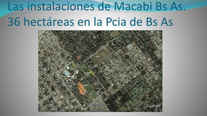 Las instalaciones de Macabi Bs As.