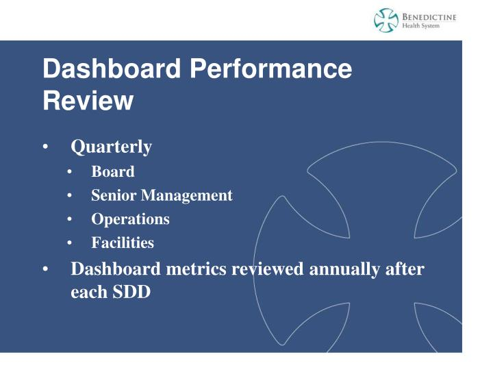 Dashboard Performance Review