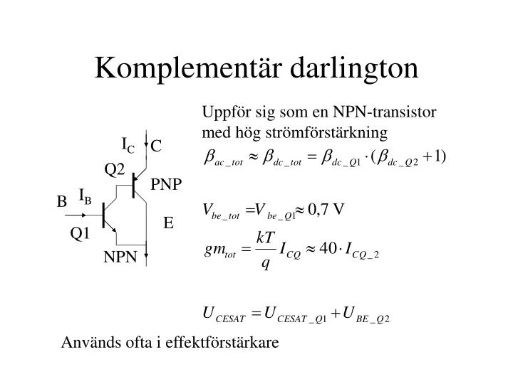 Komplementär darlington