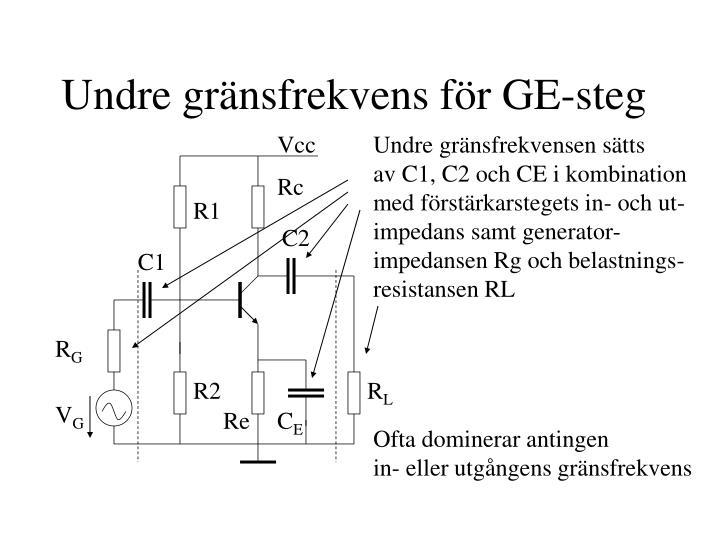 Undre gränsfrekvens för GE-steg