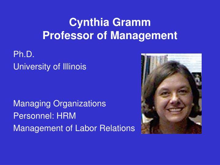 Cynthia Gramm