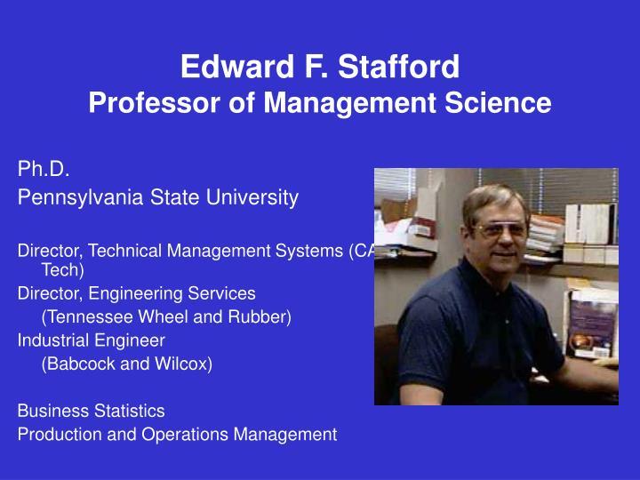 Edward F. Stafford