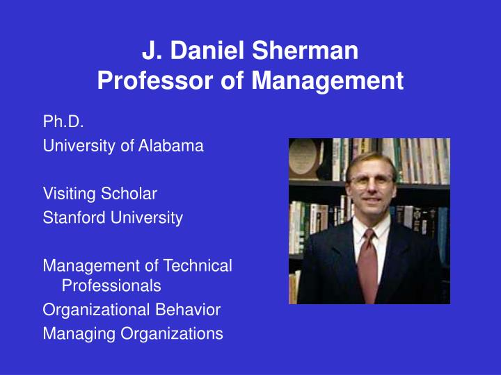 J. Daniel Sherman