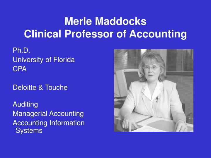 Merle Maddocks