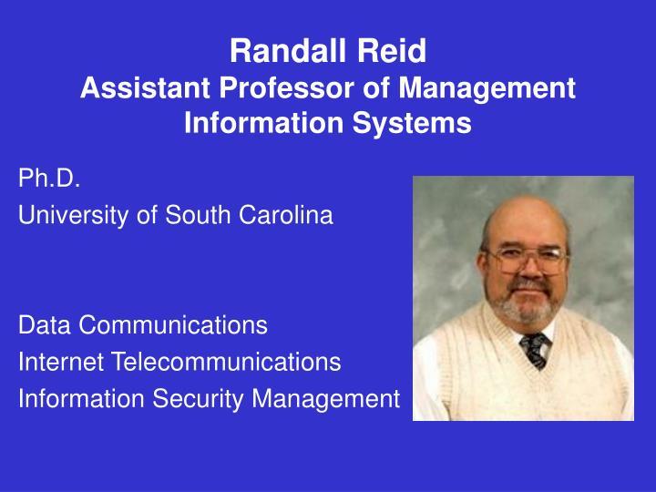 Randall Reid