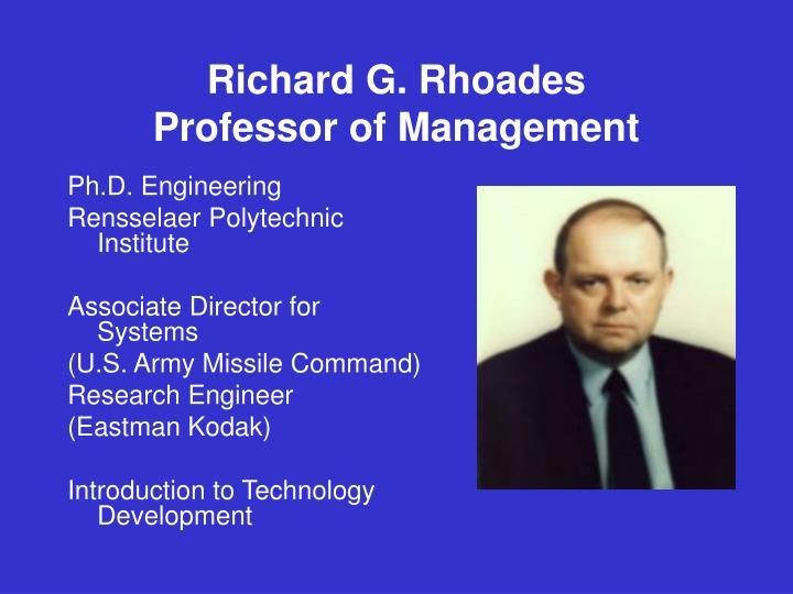 Richard G. Rhoades