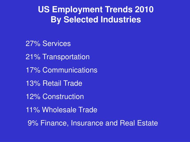 US Employment Trends 2010