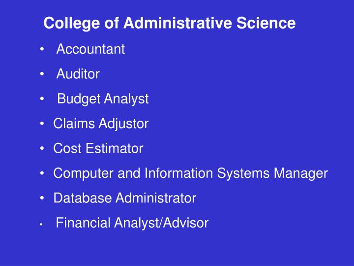 College of Administrative Science