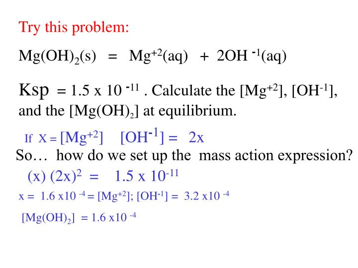 Try this problem: