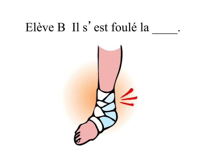 Elève B  Il s