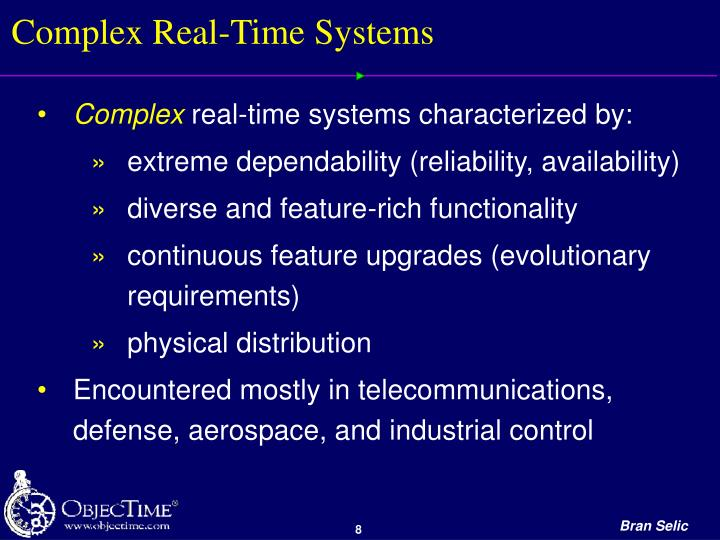 Complex Real-Time Systems