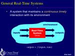 general real time systems