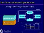 real time architectural specifications