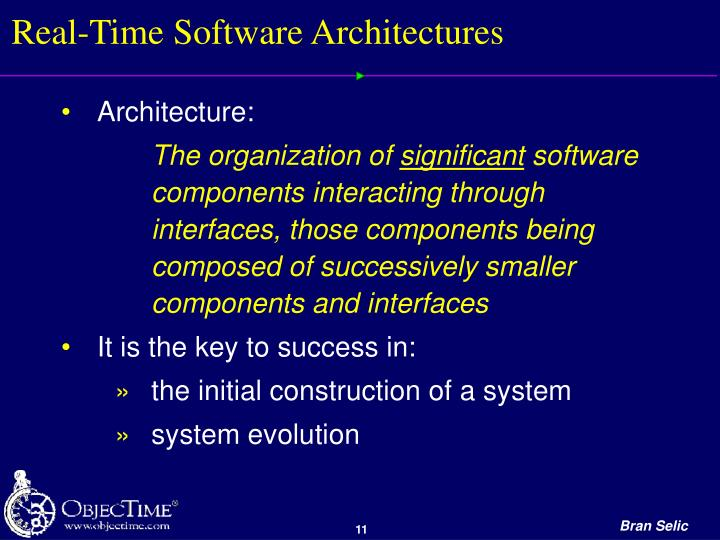 Real-Time Software Architectures