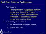 real time software architectures