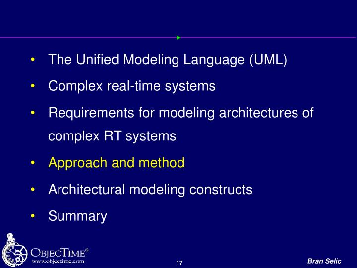 The Unified Modeling Language (UML)
