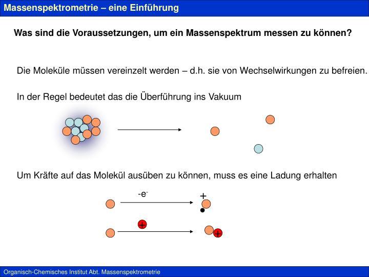 Massenspektrometrie – eine Einführung