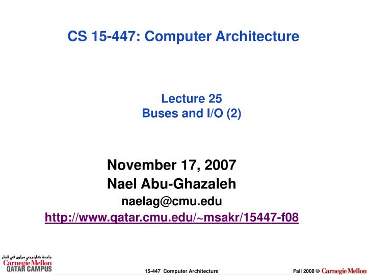 lecture 25 buses and i o 2
