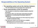 responsibilities of the operating system