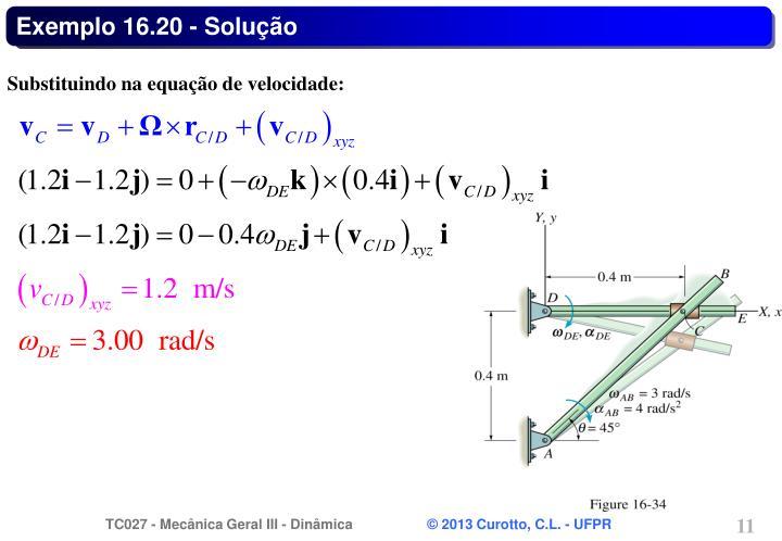 Exemplo 16.20 - Solução