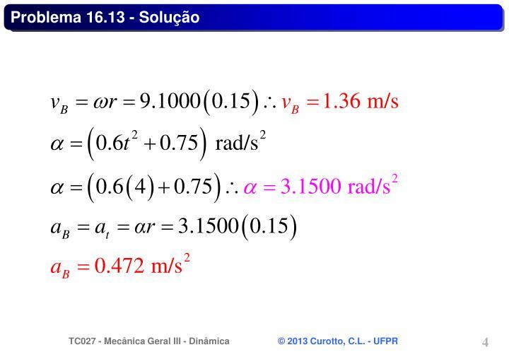 Problema 16.13 - Solução