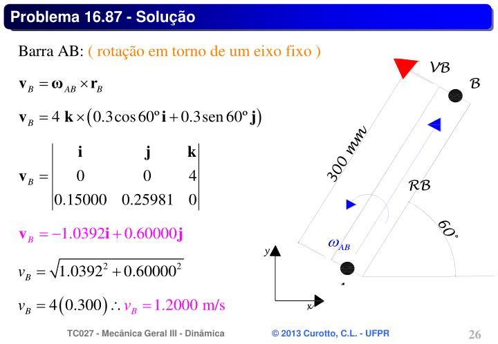 Problema 16.87 - Solução