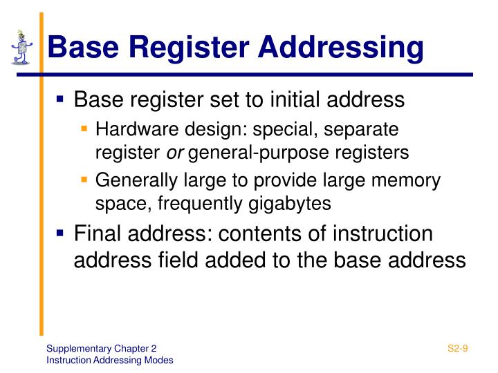 Base Register Addressing