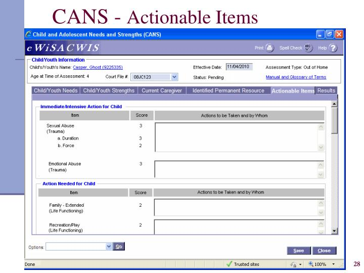 CANS -