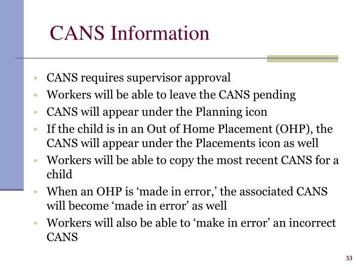 CANS Information