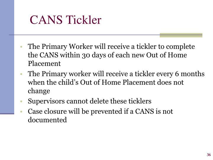 CANS Tickler