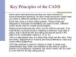 key principles of the cans