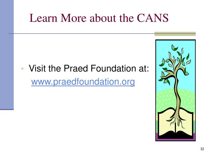 Learn More about the CANS