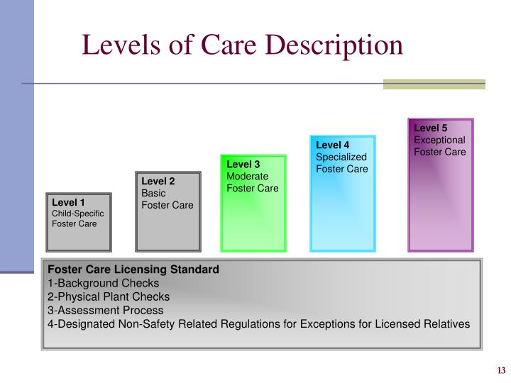 Levels of Care Description